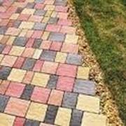 Тротуарная плитка Креатив цвет коричневый фото