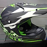Шлем снегоход.АС5232-398Снокросс Флэт зел.М фото
