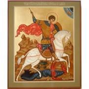 """Икона """"Чудо святого великомученика Георгия о змии"""" фото"""