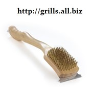 Щетка для очистки решеток гриля с латунным ворсом фото
