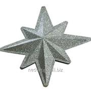 Звезда ёлочная пластиковая двухскладная 30013 фото