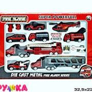 Набор металлических моделей пожарные машины 21-3019 фото
