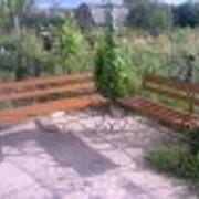 Лавочка парковая (садовая) фото