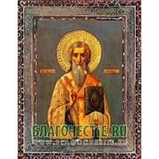 Благовещенская икона Антипа Пергамский, священномученик, копия старой иконы, печать на дереве Высота иконы 11 см фото