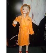 Детский махровый халат фото
