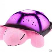 Музыкальный ночник - проектор Черепаха стандарт, цвет розовый фото