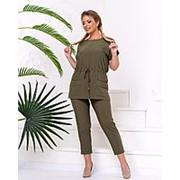 Костюм женский хаки с укороченными брюками (3 цвета) PY/-1042 фото