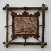 Деревянная навесная полка, рамка, декоративные предметы для помещения приобрести в Одессе, элементы декора из дерева от производителя фото