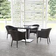 Комплект плетеной мебели T606SWT/Y350B-W53 Brown 4Pcs фото