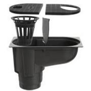 Дождеприемник PolyMax Basic ДП-30.16-ПП пластиковый с вертикальным водоотводом, цвет серый фото