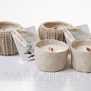Свечи из воска сои в глиняном горшке Какао 20305 фото