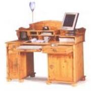 Столы компьютерные из ценных пород древесины фото