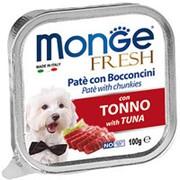 Monge Dog 100г конс. Fresh Влажный корм для взрослых собак Тунец фото