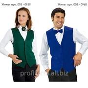 Униформа для работников отелей (жилет мужской), арт. 003-0960 фото