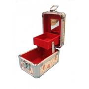 Сундучок-косметичка с отделениями, зеркалом и подкладкой/целлюлоза, алюмин. (12*8*Н8) 8616 48412 фото