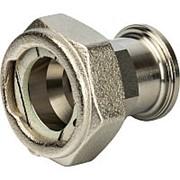 """STOUT Разъемное соединение с плоским уплотнением и обратным клапаном, никелированное 3/4"""" фото"""