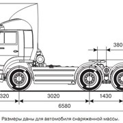 Седельный тягач КАМАЗ-6460 фото