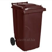 Бак мусорный 120 л. фото
