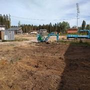 услуги мини экскаватора, ямобур, сваи фото