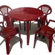 Комплект стол круглый. 4 стула Луч фото
