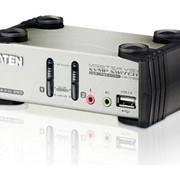 KVM-переключатель Aten CS1782 2-х портовый с портами USB и DVI, 2-х порт. USB2.0 хаб фото