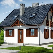 Двухэтажный мансардный каркасный дом Композитор фото