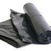 Мусорные мешки ПВД 120л (50 мкм) фото