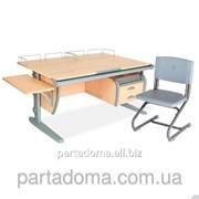 Стол универсальный трансформируемый СУТ.15-05+Стул клен/серый фото