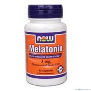 Капсулы Мелатонин NOW Melatonin 60 капсул фото