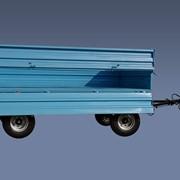 Прицеп тракторный ПТС-4-02, грузоподъемностью 4000 кг, для перевозки различных грузов. Объем кузова 8 куб. м. Тягачи: трактора МТЗ-80/82, ЮМЗ-6Л/6М, Т-50/50А фото