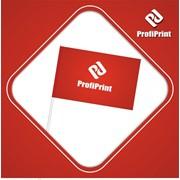 Нанесение логотипа на флажки на палочке фото