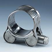 Хомуты, скобы, зажимы для крепления рукавов высокого давления (РВД). Червячные, с шарнирным пальцем, с зажимной колодкой. фото