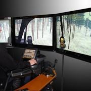 Тренажер для обучения операторов харвестера / форвардера фото