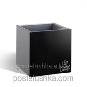 Умный вазон Cubico Flower Lover 14x14x14 глянецевый PLASTKON Черный фото