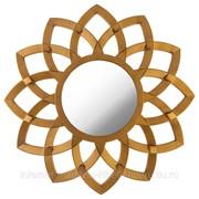 Зеркало настенное swiss home диаметр 76 см цвет: золото фото