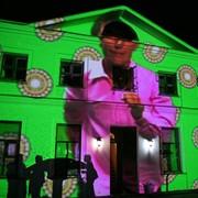 Архитектурная проекция - 3D проекция на здание, дом, проекция на фасад здания фото