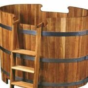 Купель для бани деревянная овальная 88х150 фото