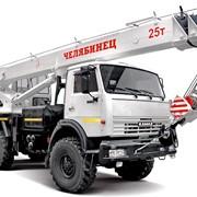 Кран автомобильный КС-55732 Челябинец КАМАЗ-43118RF, 25 тонн,4 секции стрелы фото