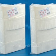 Салфетки белые столовые из целлюлозыl для ХоРеКа 1200шт 24х24см! фото