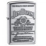 Зажигалка Jim Beam® Pewter Emblem High Polish Chrome фото
