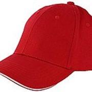 Бейсболка 6-панельные плотные красный фото