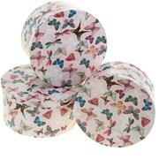 """Подарочная коробка Бабочки"""", цвет розовый фото"""