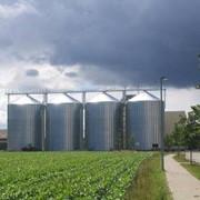 Металлические силоса для хранения зерна и древесных пеллет фото