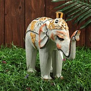 "Сувенир дерево ""Царский слоник"" 27х10х25 см фото"
