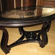 Овальный стол из массива дерева фото