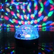 Цветомузыка диско-шар Led Magic Ball Light AB-0008SB (6 цветов) с MP3 плеером фото