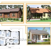 Коробка одноэтажного дома, общей площадью - 105,0 м² фото