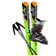 Комплект горных лыж ROSSIGNOL + Ботинки + Палки + Крепления фото