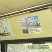 Стикеры внутри общественного транспорта фото