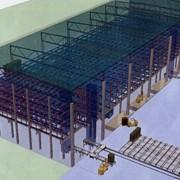 Монтаж складских помещений из металлоконструкций фото